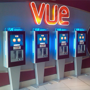 custom kiosk at Vue Cinema