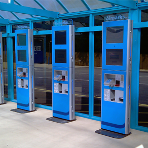 custom kiosk at Airparks